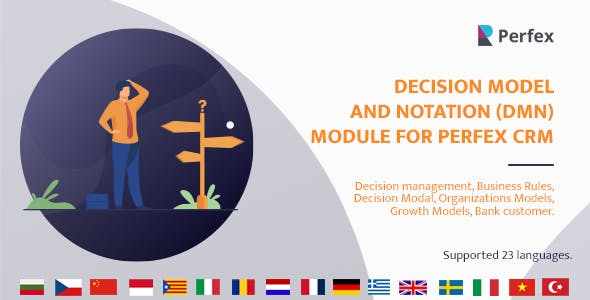 Decision Model and Notation(DMN) Module for Perfex CRM