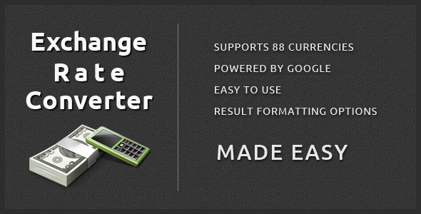 Exchange Rate Converter - CodeCanyon Item for Sale