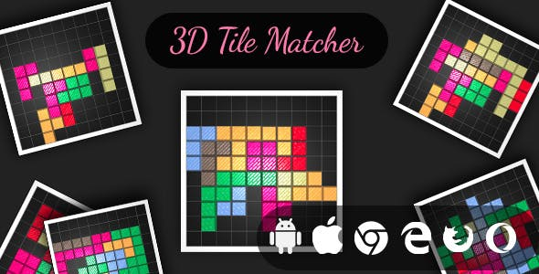 3D Tile Matcher - Cross Platform Realistic Tile Matching