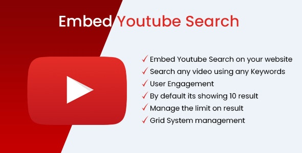 Embed Youtube Search - WordPress Plugin - CodeCanyon Item for Sale