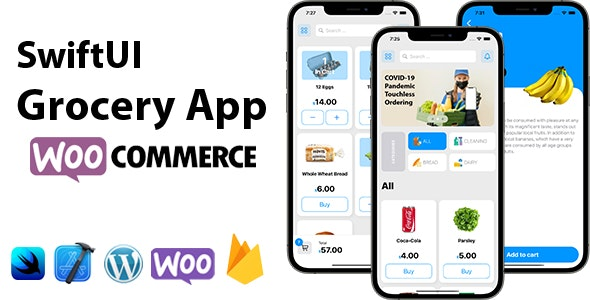 SwiftUI Grocery App | Woocommerce Full iOS Application - CodeCanyon Item for Sale