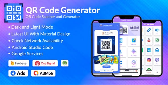 QR Code & Barcode Scanner & Generator Android | Admob, Fb, Startapp