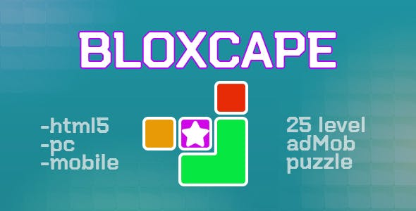 Bloxcape. html5, pc, mobile (adMob). Construct3