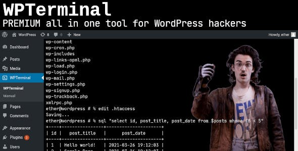 WPTerminal - PREMIUM multi-tool for ALL your WordPress needs