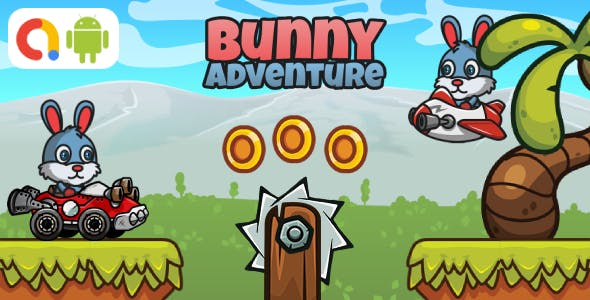 Bunny Adventure Android Game with AdMob + Ready to Publish