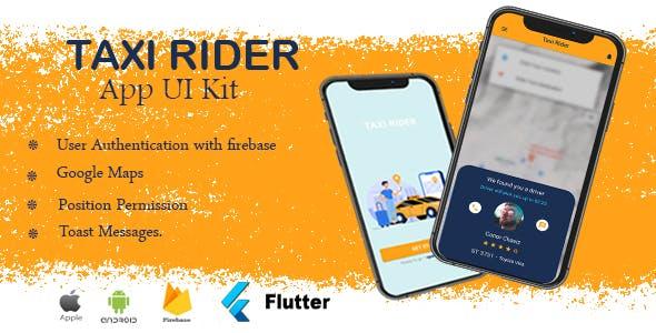 Taxi Rider Flutter App UI