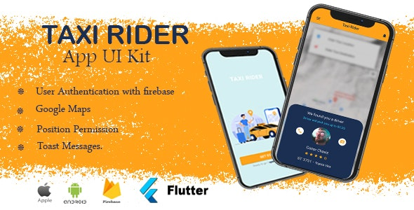 Taxi Rider Flutter App UI - CodeCanyon Item for Sale