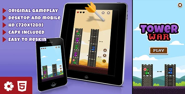 Tower War - HTML5 Game (.capx)