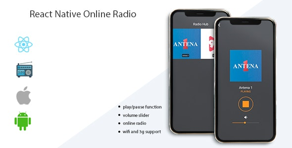 React Native Online Radio - CodeCanyon Item for Sale