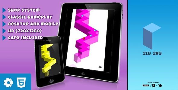 Zig Zag - HTML5 Game (.capx)