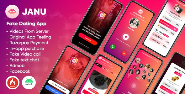 Janu - Dating App with Live Streaming : One to One Video Call (Videos from server) - CodeCanyon Item for Sale