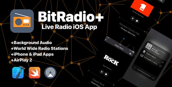 BitRadio+: Live Radio Stations Full iOS App