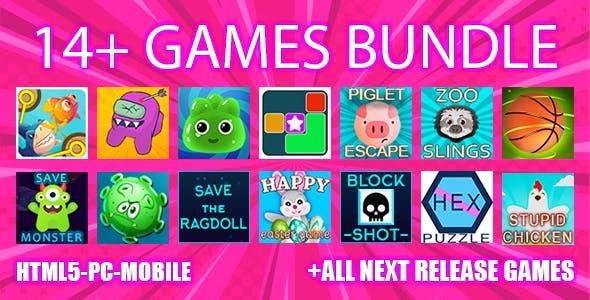 13+ game bundle. Html5 & Mobile & PC. -90%