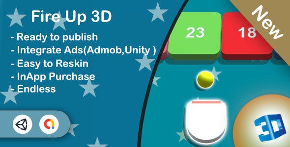 Fire Up 3D (Unity Game+Admob+iOS+Android)