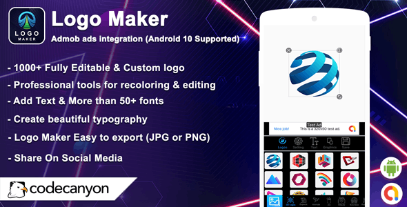 Android Logo Maker - Free Graphic Design & Logo Templates - CodeCanyon Item for Sale