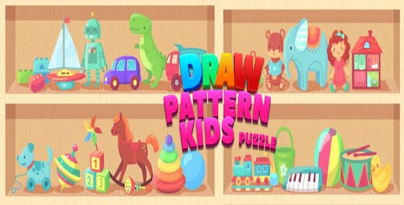 Draw Pattern Kids Puzzle -  Complete Unity Template