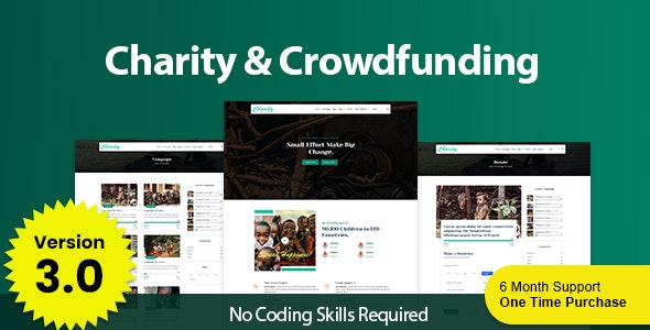 Charity - Dynamic Crowdfunding Platform with Multiple Payment Gateway - CodeCanyon Item for Sale