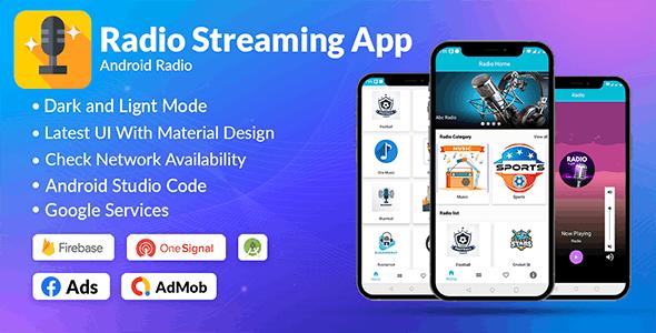 Radio App Android Online | Admob, Facebook, Startapp