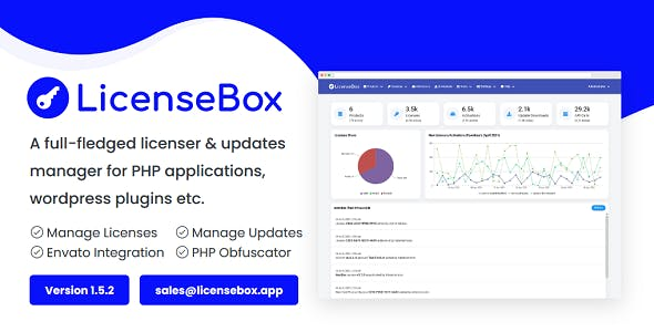 LicenseBox - PHP Licenser and Updates Manager