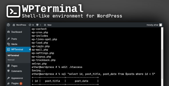 WPTerminal - Shell-like environment for WordPress - CodeCanyon Item for Sale