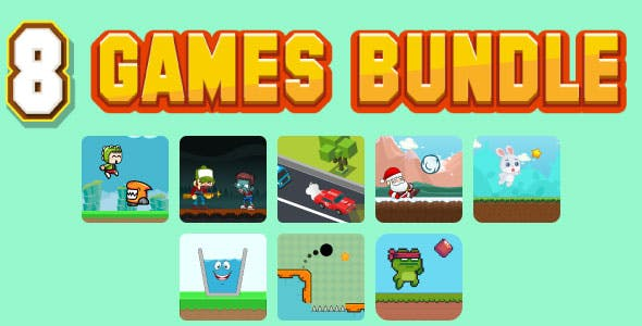Bundle N°3 : 80% OFF. 8 HTML5 GAMES - Web, Mobile and FB Instant games(CAPX, C3p and HTML5)