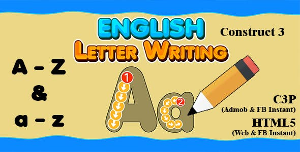 English Letter Writing (Construct 3   C3P   HTML5) Admob and FB Instant Ready