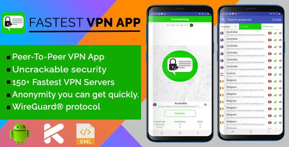 Fastest VPN App with Admob Ads