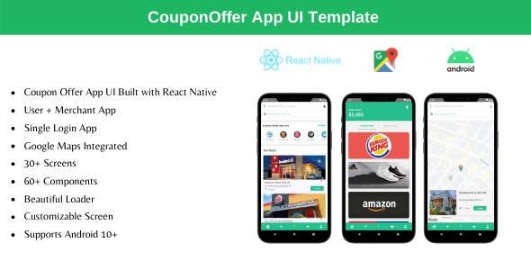 Coupon Offer App - React Native Theme
