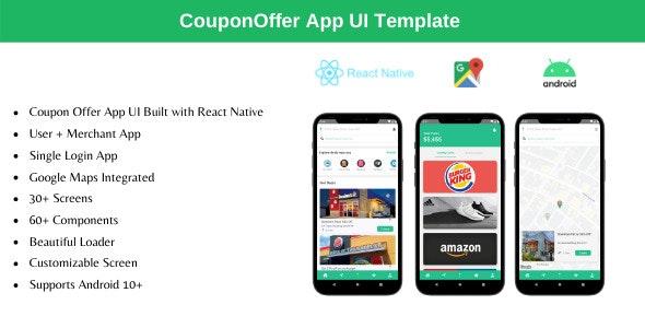 Coupon Offer App v2.0 – React Native Theme