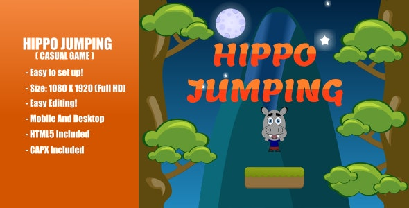Hippo Jumping | Construct 2 - CodeCanyon Item for Sale