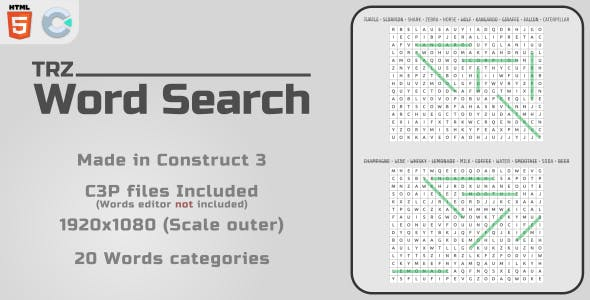 TRZ Word Search - HTML5 Casual Game