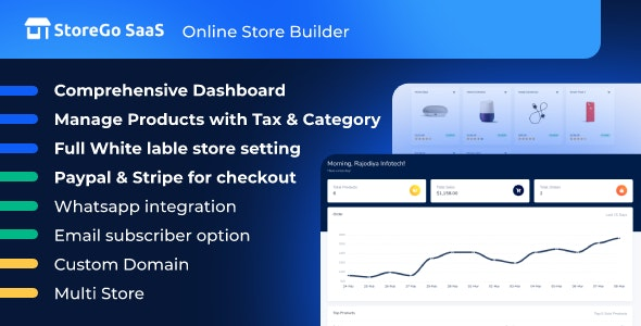 StoreGo SaaS v1.6.0 – Online Store Builder – nulled