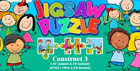 Jigsaw Puzzle Game For Kids (Construct 3 | C3P | HTML5) Admob and FB Instant Ready - CodeCanyon Item for Sale