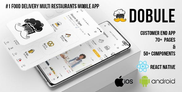 Dobule - Food Delivery App for iOS & Android