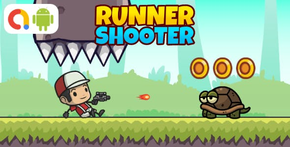 Runner Shooter Android Game with AdMob + Ready to Publish
