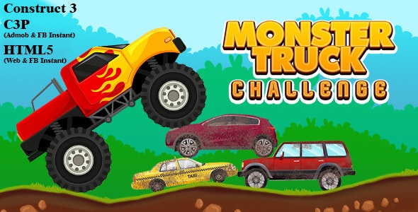 Monster Truck Challenge (Construct 3 | C3P | HTML5) Admob and FB Instant Ready - CodeCanyon Item for Sale