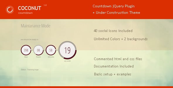 Coconut - Jquery Countdown Plugin