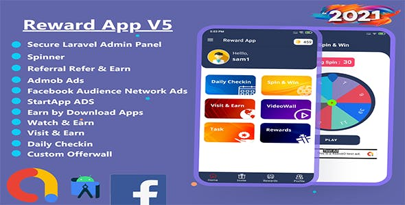 Reward App Lucky Spin + Start App ads