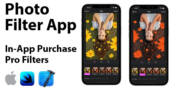 Photo Filter App | Full SwiftUI iOS Application | In-App Purchase - CodeCanyon Item for Sale