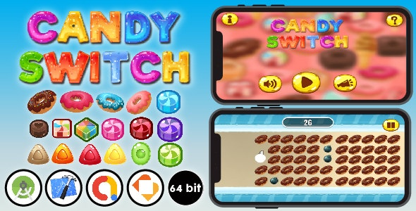 Candy Switch - Android & Xcode & Buildbox Game Template - CodeCanyon Item for Sale