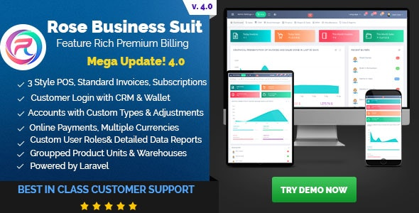 Rose Business Suite v4.0 – Accounting, CRM and POS Software