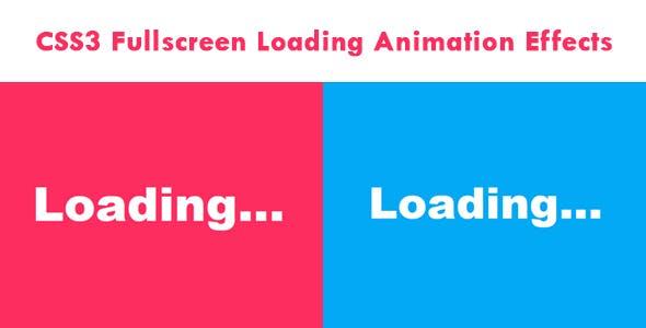 CSS3 Fullscreen Loading Animation Effects