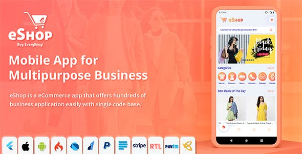 eShop - Flutter E-commerce Full App