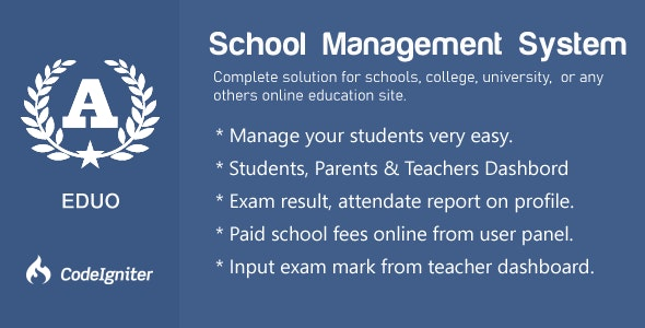 Eduo - School Management System - CodeCanyon Item for Sale