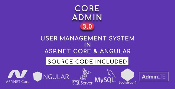 Core Admin - User Management System in ASP.NET CORE & Angular - CodeCanyon Item for Sale