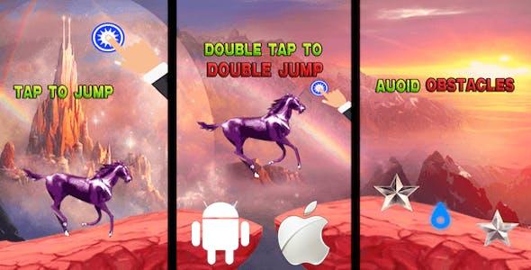 Unicorn Mountain Adventure - Rainbow Pony Jump Complete Unity Game