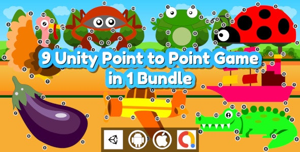 Edukida - 9 Unity Point to Point Kids Games With Admob in 1 Bundle For Android and iOS - CodeCanyon Item for Sale