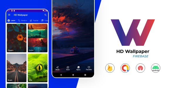 HD Wallpaper app with Firebase Backend, Facebook and Admob Ads