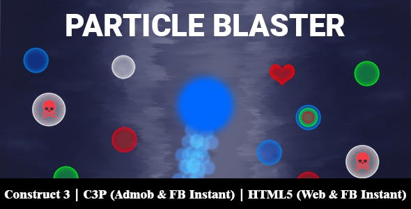 Particle Blaster Game (Construct 3 | C3P | HTML5) Admob and FB Instant Ready