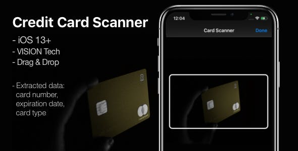 Credit Card Scanner - A mini-library for iOS 13+